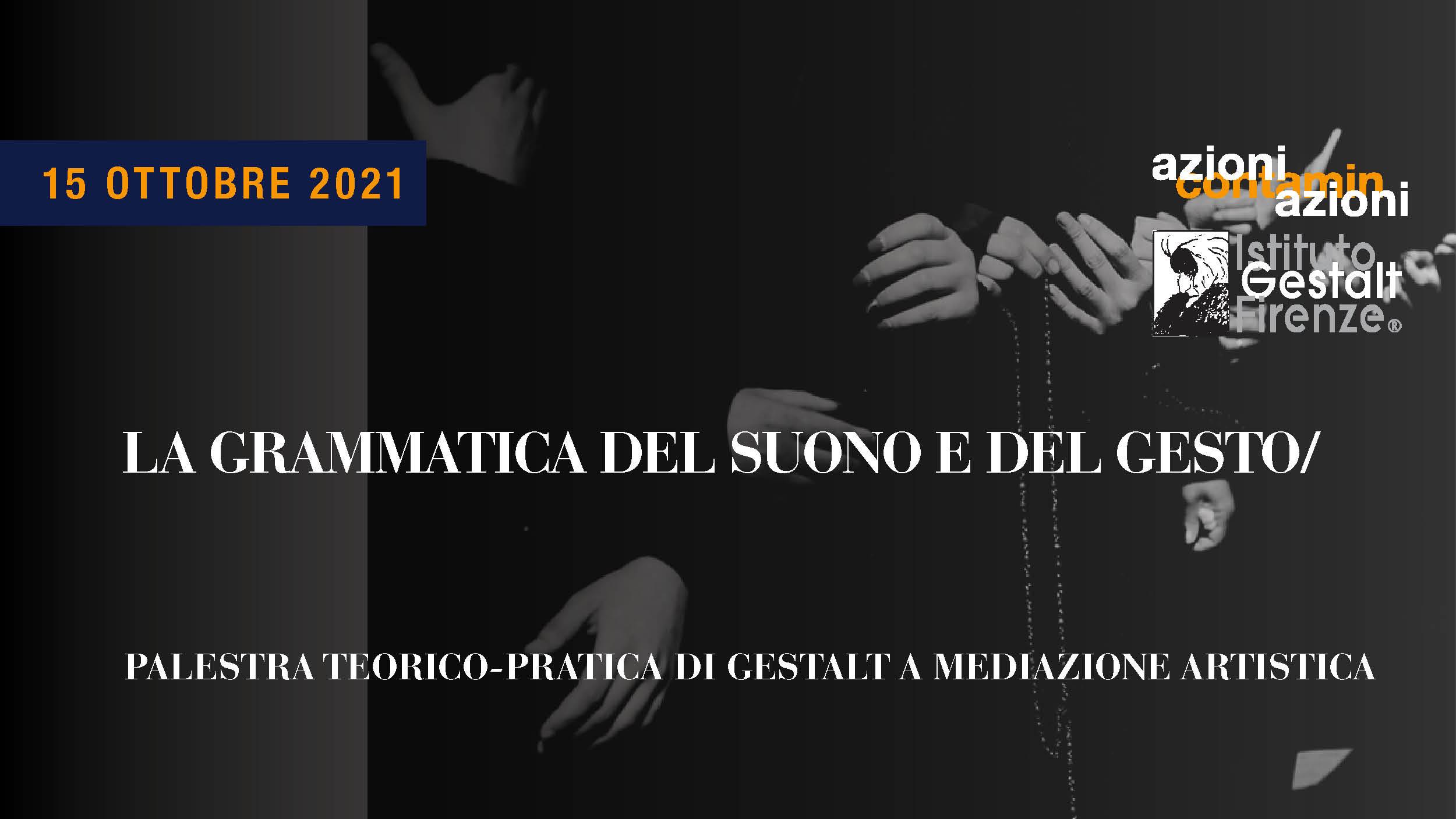 15 ott 2021 - Grammatica Suono-Gesto BANNER