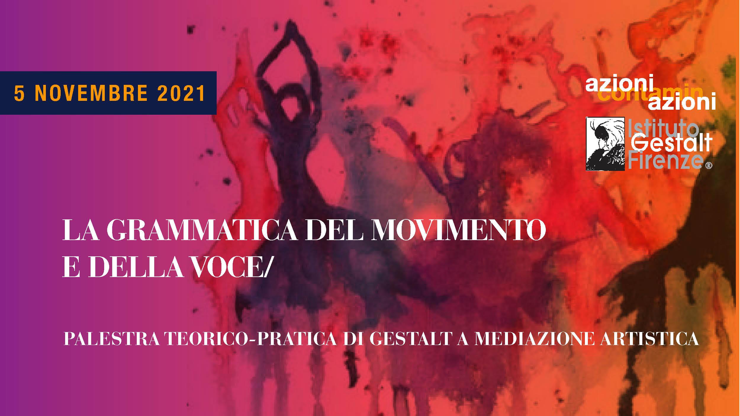 5 nov 2021 - Grammatica Movimento-Voce BANNER