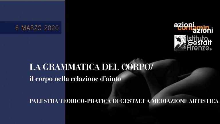6 marzo 2020 - Grammatica corpo Banner