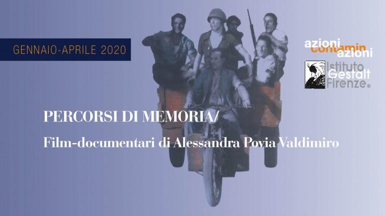 Gen-Apr 2020 Percorsi memoria banner